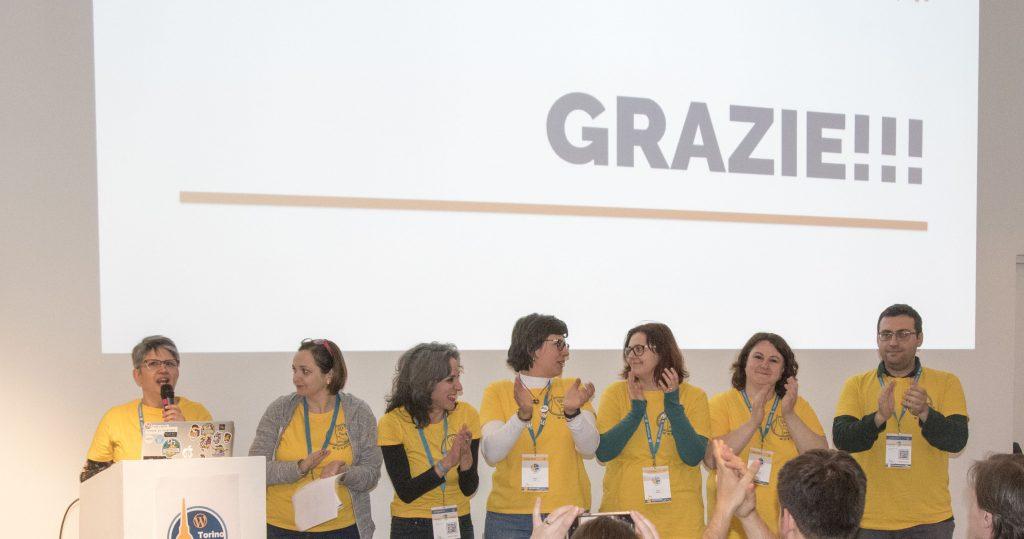 Team degli organizzatori del WordCamp Torino 2019